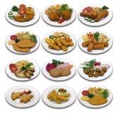 鸡菜单 免版税库存图片