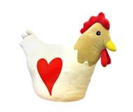 鸡蓬松毛茸的母鸡玩具 免版税库存照片
