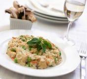 鸡蘑菇意大利煨饭 图库摄影