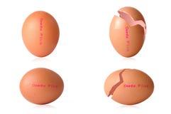 鸡蛋Ω加上 免版税库存照片