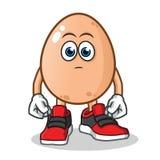 鸡蛋什么都不做吉祥人传染媒介动画片例证 皇族释放例证