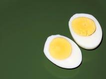 鸡蛋切了 免版税图库摄影