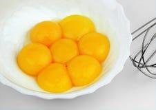 鸡蛋卵黄质  图库摄影