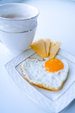 从鸡蛋和咖啡的早餐 免版税库存图片
