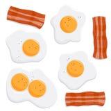 鸡蛋和烟肉 皇族释放例证
