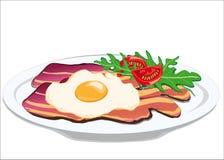 鸡蛋和烟肉 免版税库存照片