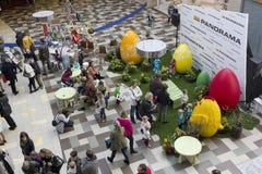 鸡蛋和鸡设施 库存图片