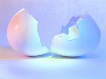 鸡蛋孵化了 免版税图库摄影