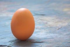 鸡蛋射击了石背景 免版税库存照片