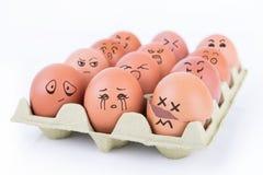鸡蛋怂恿焦点群白色 免版税库存图片