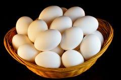 鸡蛋是食品,有卵形形状,包括蛋白质和卵黄质 免版税图库摄影