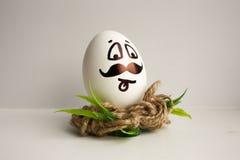 鸡蛋是滑稽的枪口 您的设计的照片 免版税库存照片