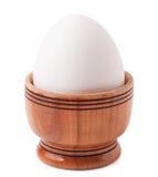 鸡蛋查出的白色 图库摄影