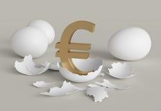 鸡蛋欧元 免版税库存图片