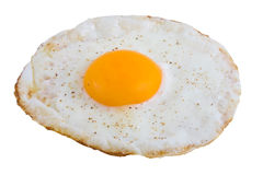 鸡蛋油煎了 免版税库存图片