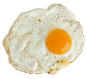 鸡蛋油煎的油腻 免版税库存照片