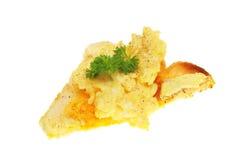 鸡蛋片爬行的多士 图库摄影