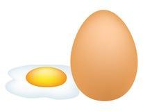 鸡蛋用煎蛋卷 免版税库存图片