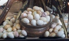 以鸡蛋的形式大理石 库存图片