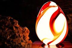 以鸡蛋的形式装饰卵形灯 免版税库存照片