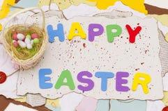 鸡蛋篮子,复活节 库存图片