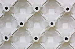 鸡蛋被铸造的黏浆状物质盘 免版税库存图片