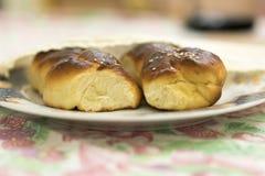 鸡蛋面包面包 库存照片
