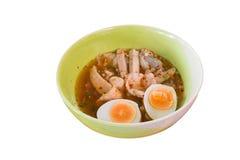 鸡蛋面汤 免版税库存图片