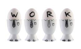 鸡蛋,企业队概念。 库存照片