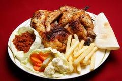 鸡被盘问的黎巴嫩人 免版税库存图片