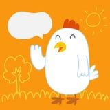 鸡谈话 库存图片