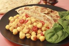 鸡豆咖喱Channa Masala印地安人食物 库存图片