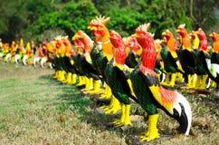 鸡雕象 免版税库存图片
