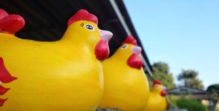 鸡雕象 库存照片