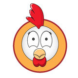 鸡顶头按钮 免版税图库摄影