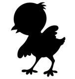 鸡鸟剪影 库存图片