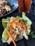 鸡莴苣套开胃菜 图库摄影