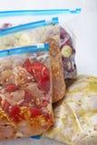 鸡Crockpot冷冻机饭食 免版税库存照片