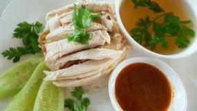 鸡hainanese米 免版税库存图片