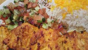 鸡kabab 图库摄影