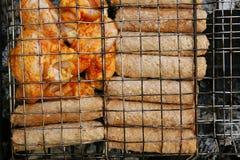 鸡kebab shish翼 库存图片