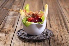 鸡kebabs 免版税图库摄影