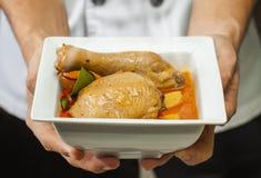 鸡mussaman咖喱 免版税库存照片