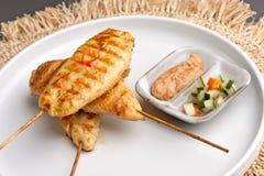 鸡Satay开胃菜 库存照片