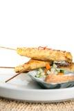 鸡Satay泰国开胃菜 库存照片
