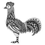 鸡Zendoodle设计成人彩图和设计元素的 储蓄传染媒介 皇族释放例证