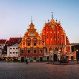 鸥的有启发性议院在里加,拉脱维亚 库存照片