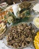 鸦片沙拉种子 免版税库存图片