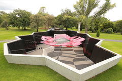 以鸦片的形式,记忆寺庙的词条庭院在墨尔本,有机盖的澳大利亚设计了 库存照片