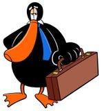 鸭子商人动画片动物字符 库存例证